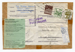 Front Of Cover From ZELL / MOSEL To Sint Niklaas - Green Sticker Zoll Douane + Different Cancellations - Packchen - - Covers