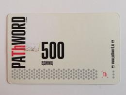 KAZAKHSTAN..  PHONECARD.. PATHWORD..500 UNITS - Telecom Operators