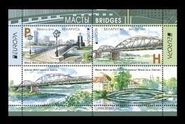 Belarus 2018 Mih. 1245/46 (Bl.162) Europa. Bridges MNH ** - Bielorussia