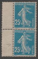 "Semeuse N°140 Variété "" Taches Blanches "" Tenant à Normal - Curiosities: 1900-20 Mint/hinged"