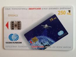 KAZAKHSTAN..  PHONECARD.. SMARTCARD..KAZAKHTELECOM ..250 UNITS..KHOZHA AHMET YASSAUI,  XIV - Telecom Operators