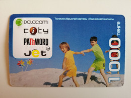 KAZAKHSTAN..  PHONECARD.. PATHWORD..DALACOM..CITY..JET..CDMA..1000  UNITS - Giochi