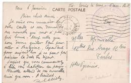 Secretariat D'état Au Travail 16° Cii Indochinoise PAU (Basses-Pyrénées) - Cartas