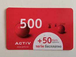 KAZAKHSTAN..  PHONECARD.. ACTIV..500 - Telecom Operators
