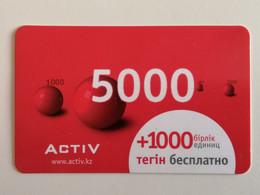 KAZAKHSTAN..  PHONECARD.. ACTIV..5000 - Telecom Operators