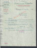 FACTURE DE 1938 A. MURAT & SES Fils ETABLISSEMENTS COUDERC TRUFFES ( TRUFFE ) PATÉS DE FOIES GRAS À PÉRIGUEUX : - Alimentaire