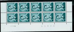 Bloc De 10 Du N° 1066 P3 ( ** )  Datée Du 25 XIII 69 - 1953-1972 Anteojos