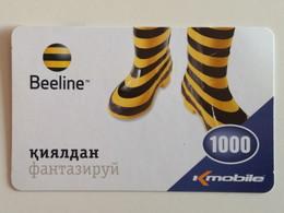 KAZAKHSTAN..   PHONECARD.. K-MOBILE..BEELINE..1000 - Moda