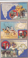 Lot De 3 Cpa - Div - France - Colonies Francaises - Cochinchine , Indes , Niger- Publicité Lion Noir - Zonder Classificatie