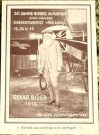 Schweiz Suisse 1943: PRO AERO 30 J.ALPENFLUG OSKAR BIDER Zu F36 Mi 422 Yv PA35 O ZÜRICH 13.VII.43 > BERN  (Zu CHF 22.00) - Erst- U. Sonderflugbriefe