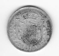 20 Réales 1854 Espagne  TB+/TTB - Colecciones