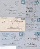 Lot De Lettres Céres 60A Et 60 B Avec Correspondance 12 Unités - 1871-1875 Ceres