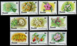 1028/1037** - Fleurs III / Bloemen III / Blumen III / Flowers III - RWANDA - 1980-89: Neufs