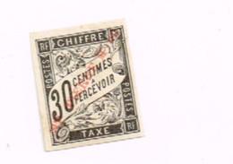 """Surchargé  (x) No Gum.Sans Gomme.Signé """"Calves"""".4 Marges. - Timbres-taxe"""