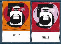5464 5465 Chanel N°5 - Cœurs 1,08 + 2,16 BDF (2021) Neuf** - Neufs