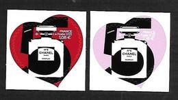 France 2021 - Cœur - Chanel (adhésifs) ** - Unused Stamps