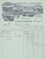 42 SAINT ETIENNE St 1912 Rubans Velours Usine BOURG ARGENTAL CHAMPDIEU De La Seaune COLCOMBET X110 Loire Ardeche Isère - 1900 – 1949