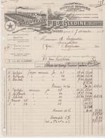 DORDOGNE: J.B. GLEDINE, Outils Montés Pour Bois, à Thiviers / Fact 1928 Pour Aignan - Other
