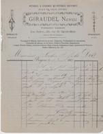 DORDOGNE: GIRAUDEL Neveu, Lampiste, Ferblantier, Pétrole R. Malbec à Bergerac / Fact 1883 - Other