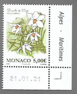 Monaco 2021 - Nivéole De Nice ** - Unused Stamps
