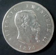 Italie - 5 Lire 1974 Milan Argent - 1861-1878 : Vittoro Emanuele II