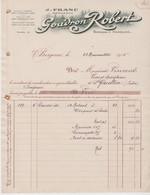 DORDOGNE: GOUDRON Robert, Vins De Bergerac / Fact. De 1915 Pour St Gaultier - Food