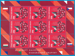 Czech Republic - 2021 - 30th Anniversary Of Visegrad Group (V4) - Mint Miniature Stamp Sheet - Unused Stamps