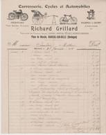 DORDOGNE: GRILLARD Richard, Cycles & Automobiles, Machines à Coudre, Pl Du Marché à Mareuil Sur Belle - Transport