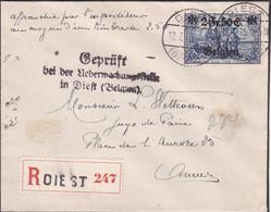 Belgique - COB OC9 Sur Lettre Recommandée De Diest à Antwerpen - Cachet Type 40 - Censure à Diest - Voir Desc. - [OC1/25] Gen.reg.