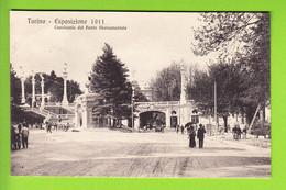 TORINO : Cavalcavia Del Ponte Monumentale . Esposizione 1911. TBE . 2 Scans. Edition Campassi E Diena - Exhibitions