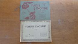 2 Livrets De 32 Photos Sur Les Inondations De Paris Et Sa Banlieue En 1910, - Histoire