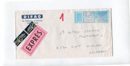 1987 DIFAQ Paris - EXPRES - PAR AVION Vers Sint Niklaas -  PARIS 87 75011 18H 22.20 FR. - PARIS DEPART + ST NIKLAAS - Non Classés