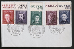 Generalgouvernement 96/100 Auf FDC - Occupation 1938-45