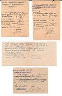 Lot 5 Récépissés Postaux 1944-1947 Marsala (Sicile). - Post