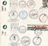 España Base Antartica Española Juan Carlos I. Lote De Dos Sobres - Variétés & Curiosités