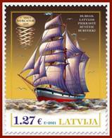 2021 Ships Latvia Lettland Three-mast Barkentine Mercator 1895 MNH - Letland