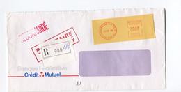 1998 RECOMMANDEE - STRASBOURG CENTRE DE TRI -  Enveloppe BANQUE FEDERATIVE - Crédit Mutuel - Non Classés