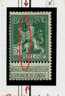 N° 110 Lion Héraldique  (* )  Grande Ligne Verte Vertical - Curiosa