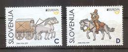 SLOVENIA 2020,EUROPA CEPT,ANCIENT POSTAL ROUTES,HORSES,MNH - Slovenia