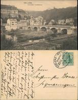 Ansichtskarte Weilburg (Lahn) Teilansicht Fluss Lahn Lahnbrücke Brücke 1913 - Weilburg
