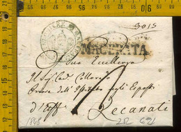 Piego Con Testo Macerata Per Recanati - 1. ...-1850 Prefilatelia