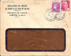 62 - PAS DE CALAIS - LIEVIN - DAGUIN SOLO A4  1947   RRR - Mechanical Postmarks (Other)