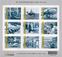 Italia - 2012 - 150° Anniv. Poste Italiane In Foglietto  MNH** (rif. BF76 Cat. Unificato) - Hojas Bloque