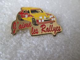 PIN'S  J AIME LES  RALLYES   RENAULT  5  TURBO  MAXI - Renault