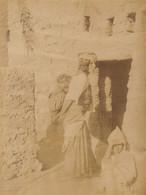 Grande Photo Afrique Algérie Jeune Femme Arabe D'El Kantara Biskra - Oud (voor 1900)