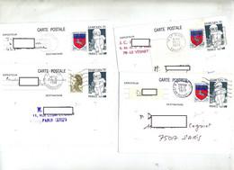 Carte Postale 0.60 Juvarouen + Complement Flamme à Voir - Standard Postcards & Stamped On Demand (before 1995)