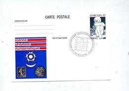 Carte Postale 0.60 Juvarouen Cachet Roanne Anniversaire Illustré - Overprinter Postcards (before 1995)