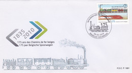 Enveloppe FDC 4036 Chemins De Fer Belges Locomotive Train - 2001-10
