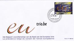 Enveloppe FDC 4048 La Présidence Belge Du Conseil De L'Union Européenne Europe - 2001-10