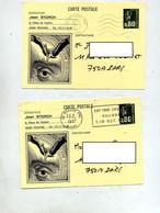 Carte Postale 0.80 Bequet  Flamme Muette Foire  Roanne Illustré Auteur Storch - Overprinter Postcards (before 1995)
